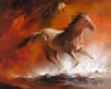 Wild Horses I Print by Willem Haenraets