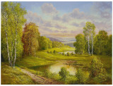 Idyllic Scene Prints by Helmut Glassl