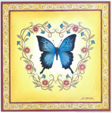 Blue Butterfly Prints by  Urpina