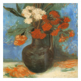 Vase Avec Œillets Et Fleurs Kunstdrucke von Vincent van Gogh