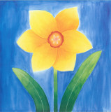 Yellow Flower With Leaves Poster by Urpina 