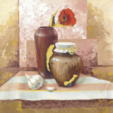Still Life With Red Poppies Poster von Babicev Vjaceslav