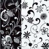 Formas Florales B/N I Affiche