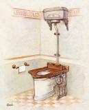 Vintage Toilet IV Print by  Conde
