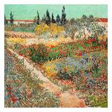 Jardins en fleurs avec sentier Kunstdruck von Vincent van Gogh