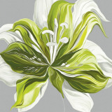 Spring Greens II Poster by Sally Scaffardi