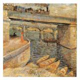 Le Pont De Langlois A Arles Avec Dame Au Parapluie Prints by Vincent van Gogh
