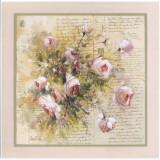 Bouquet De Roses Blanches Poster by Pascal Cessou