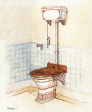 Vintage Toilet II Poster par  Conde