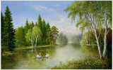 Beautiful Lake Print by Helmut Glassl