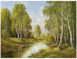 Birches In Springtime Posters by H. Buchner
