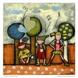 Enfants 1-2-3 Print by Marie-Josée Latouche
