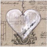 Lettres De Cœur Ange Art by Marielle Paccard