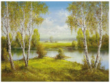Reflections Of Spring Prints by Helmut Glassl