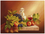 Still Life With Fruits II Print by Fasani