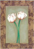 Flowers In Brown Frame I Prints by  Ferrer