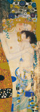 Three Ages Of Woman - Golden Metallic Ink Posters van Gustav Klimt
