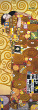 Fulfilment - Golden Metallic Ink Print by Gustav Klimt