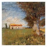 Fermes Dans Les Blés Prints by Vincent van Gogh