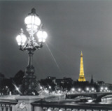 Eiffel Tower By Night Print