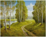 Romantic Pathway Posters af Helmut Glassl