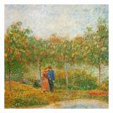 Parc Voyer D'Argenson A Asnieres (Détail 2) Kunstdrucke von Vincent van Gogh