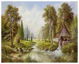 H. Buchner - Old Mill Umění