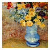 Vase Avec Bouquets De Fleurs Print by Vincent van Gogh