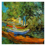 Les Bords De L'Oise A Auvers Poster by Vincent van Gogh