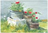 Sunny Garden II Print by Tomas Guillen