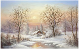Cosy Winter Poster by Helmut Glassl