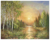 Siberian Sunset Prints by Helmut Glassl