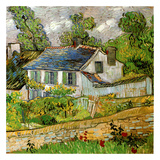 オーヴェールの家々 1890年 アート : フィンセント・ファン・ゴッホ