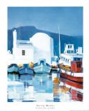 Le Port Des Cyclades Print by Silvio Magni