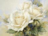 Strauß aus weißen Rosen Poster von Igor Levashov