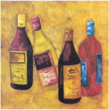 Wine Collection III Prints by Evol Lo