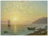 Sunset At Jalta Prints by A. Gorjacev