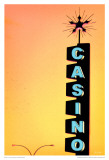 Casino - Yellow Posters by Pascal Normand