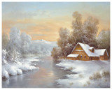 Winter At Lake Ladoga Poster by B. Smith