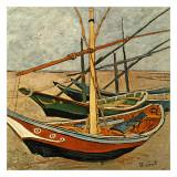 Barques Aux Saintes-Maries Art by Vincent van Gogh
