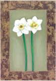 Flowers In Brown Frame III Print by Ferrer 