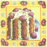 Strawberry Cake Prints by  Urpina
