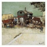 Les Roulottes, Campement De Bohémiens Posters by Vincent van Gogh