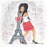Scarlett À Paris Posters by Stéphanie Holbert