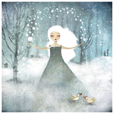 La Fille De La Neige Print by Anne-julie Aubry