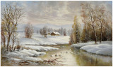 Winter Twilight Prints by Helmut Glassl