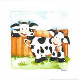 Littles Cows And Fences Prints by  Urpina