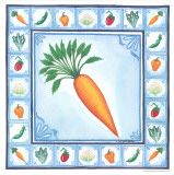 Blue Veggies I Poster by Urpina 
