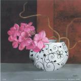 Cano - Jarrones Con Flores Malva II Plakát