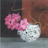 Jarrones Con Flores Malva II Posters by  Cano